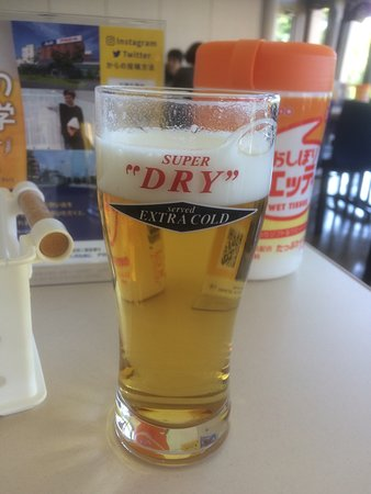 Asahi Breweries Suita Brewery: Extra cold Asahi served at the end of the tour