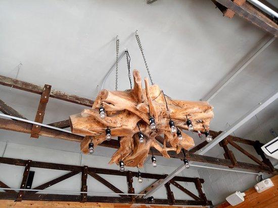 La Creperie: their chandelier