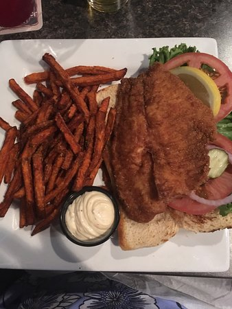 Fish Sandwich at the 1911 Grill, Speedway, In
