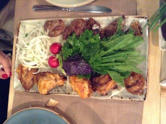 Lavash Restaurant Yerevan: BBQ chicken & Beef