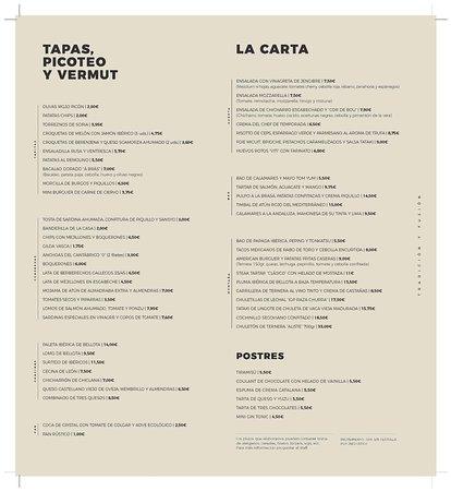 El Viti Taberna: CartaElViti.com Castellano