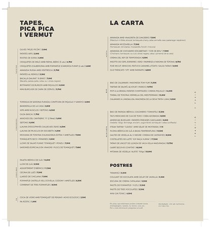 El Viti Taberna: CartaElViti.com Català