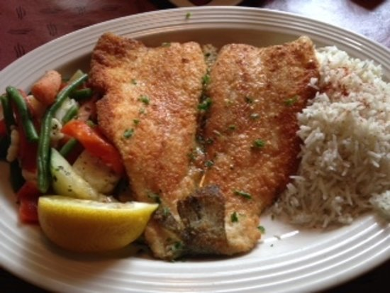 West Virginia Trout With Veggies And Jasmine Rice Picture Of Food