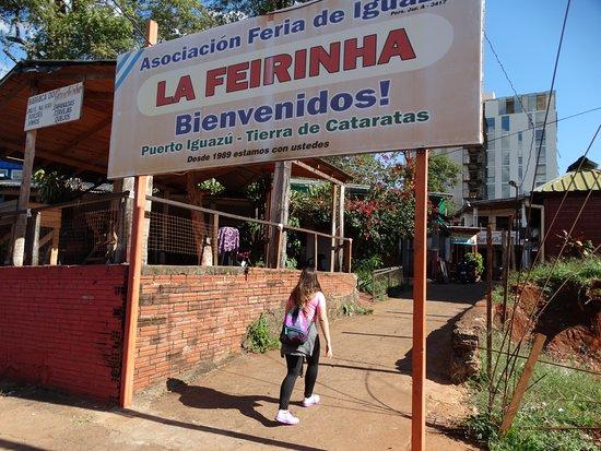 Feirinha de Puerto Iguazu: entrada