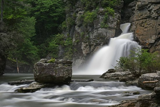 Linville Falls: Pool, unterer Trail