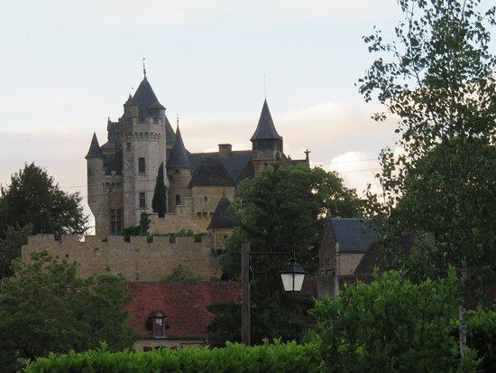 La Barde Montfort: View of Chateau de Montfort from La Barde's library