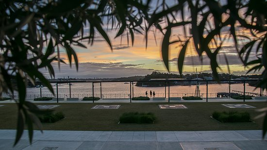 coal loader centre for sustainability : A trio take in the wonderful sunset view.