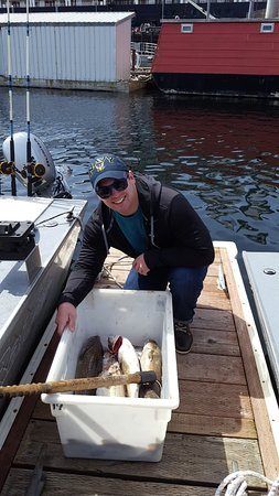 "Baranof Fishing Excursions: All the ""keepers"" that we had processed and shipped to our home"