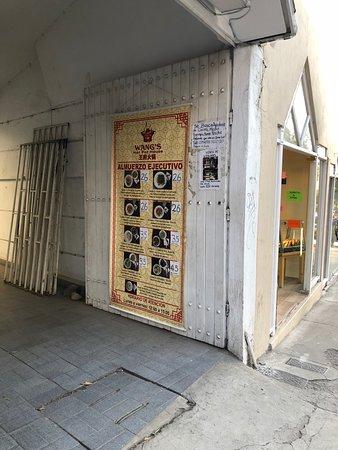 Wang's Hot Pot House: Street sign