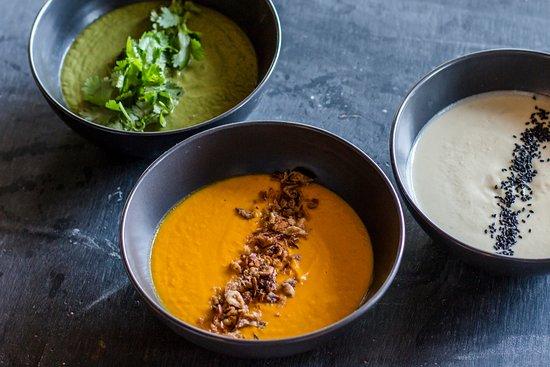 Genius Cafe Gianyar: Selection of Detox Soups