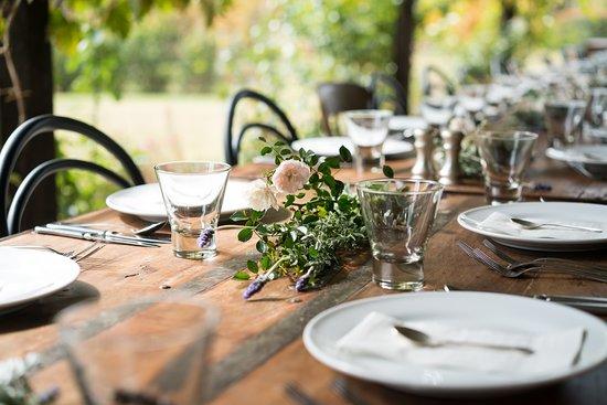 The Loch Tasting Room: Dining table