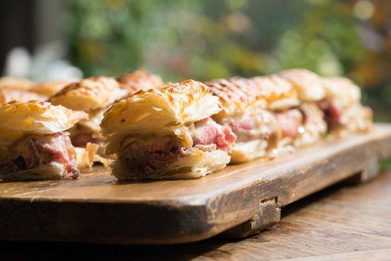 The Loch Tasting Room: Roast beef Napoleon with onion jam mayonnaise