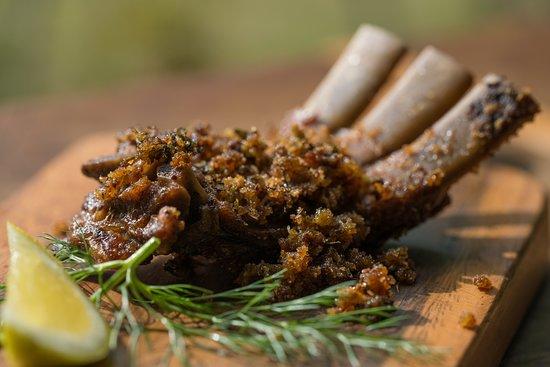 The Loch Tasting Room: Slow roast lamb rib with fennel and lemon crust