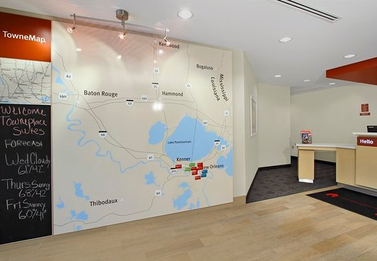 Harvey, Луизиана: Map