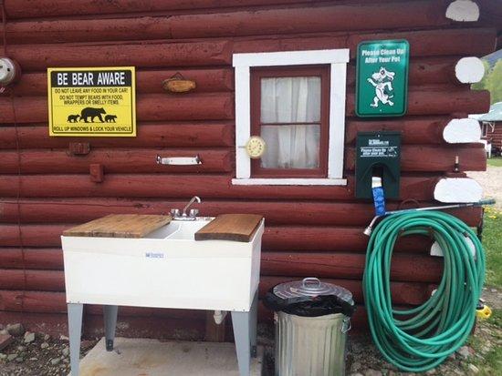 Alpine Village: Fish cleaning station