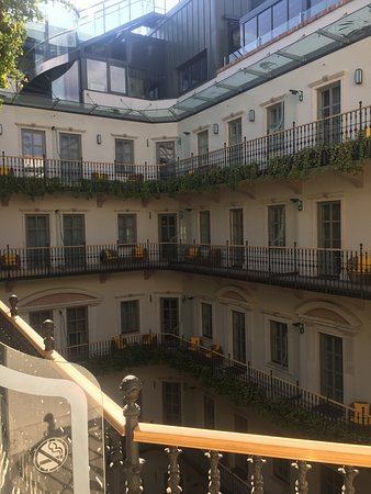 Aria Hotel Budapest by Library Hotel Collection: view of interior courtyard