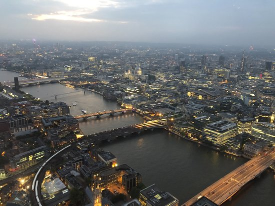 The View from The Shard: Looking out east toward Canary Wharf