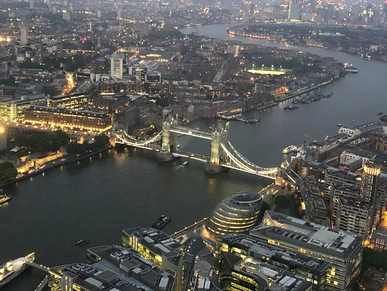 The View from The Shard: HMS Belfast, City Hall, Tower Bridge, Canary Wharf... and that's just looking east