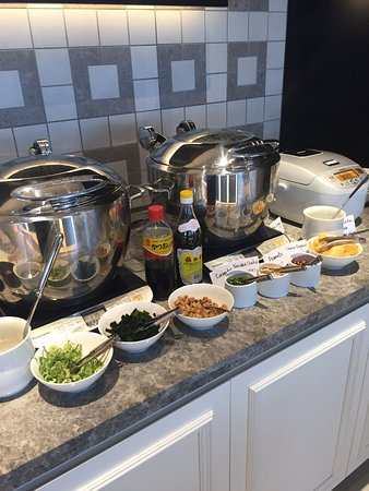 Hilton Osaka: Rice and miso soup