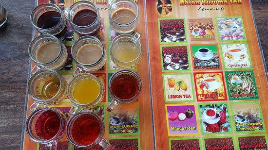 Tampaksiring, Indonesien: There are many kinds of drinks to taste besides Kopi Luwak.