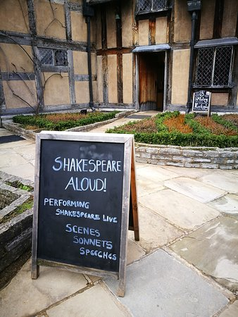 At Shakespeare's birthplace