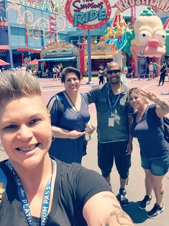 Universal Studios Hollywood: #HappyBirthday Haven Miles  #UniversalStudios #Hollywood  #TheSimpsons Ride #Krustyland #Springf