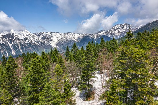 Shinhotaka Ropeway: View from the top station in May