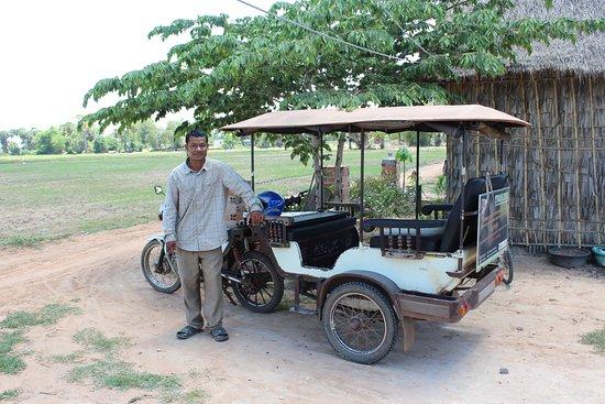 Angkor Taxi Hen: Hen and his beautiful tuk-tuk