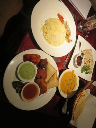 Jasmin Indian Restaurant: Some of our lunch selection