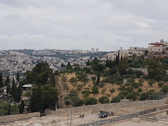 Monte das Oliveiras: View to right looking down towards Garden of Gethsemane