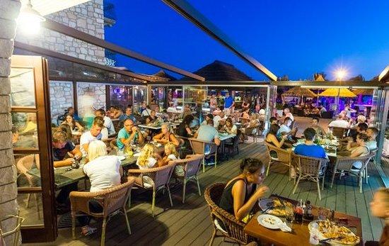 Pakostane, Croatia: Our restaurant terrace