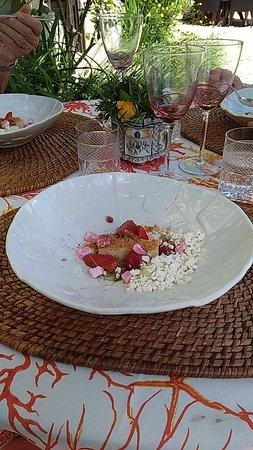 G.A. Manoir de Retival: Dessert chocolat blanc et glace à l'encens