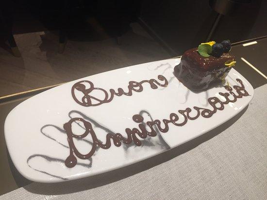 Cannavacciuolo Bistrot Torino: Dolce anniversario