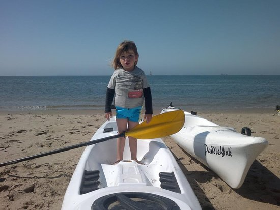 Namibia Kayak Tours: Young guide in training- children of all ages are welcome