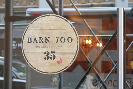 Barn Joo Window Sign Picture Of Barn Joo 35 New York City