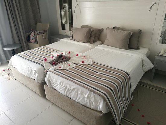 Djerba Plaza Hotel & Spa: Chambre avec deux lits