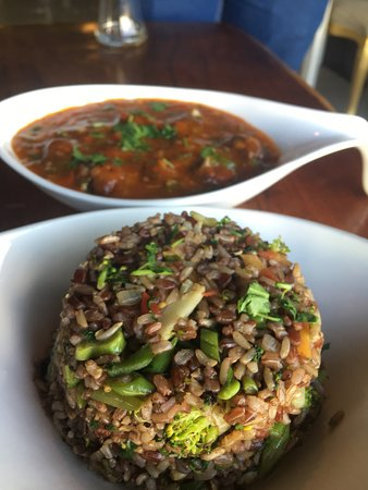 Poppin organic cafe: Manchurian And Fried Rice
