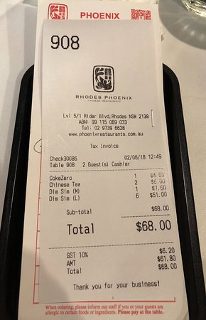 Rhodes, Australie : Expensive yum cha for 2 people
