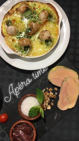 Hauteluce, Frankrike: Escargots gratinés, Foie Gras Maison