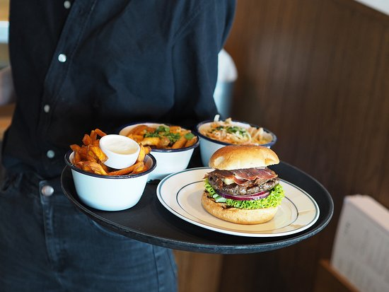 Dognvill Bar & Burger: A serving tray filled with love.