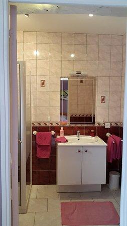 Siorac-en-Périgord, Frankrike: Salle de bain Fleur d'O