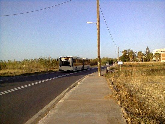 Amnissos Residence: Автобус, курсирующий между Ретимно и Панормо, останавливается возле отеля