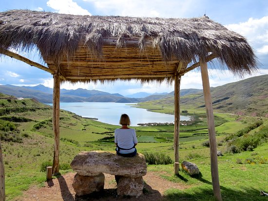 Full day tour of Qeswachaca Inca Bridge: Overlooking Acopia Lagoon