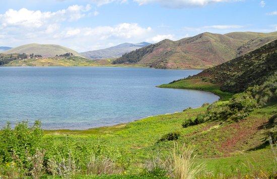 Full day tour of Qeswachaca Inca Bridge: Acopia Lagoon