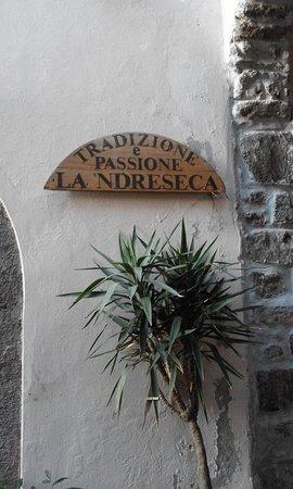 Arnara, Italy: Insegna