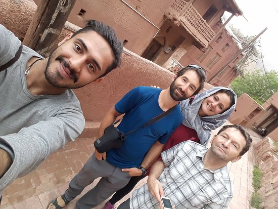 Iran Adventurers: Abyaneh village and beautifull rose field with yosuf our tour guide