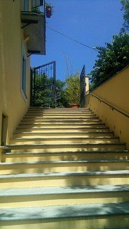 Ristorante San Genesio : La scalinata che porta al ristorante