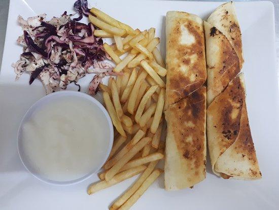 Alhamdulillah Restaurant : CHICKEN SHAWARMA + FRENSH FRIES