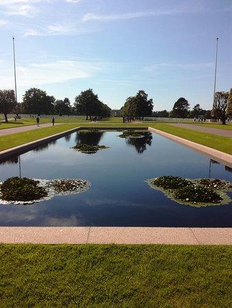 奥马哈海滩美军墓地照片