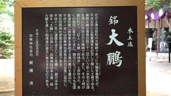 Tanashi Shrine: 本土俵 「大鵬」(2018/05/26)